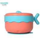 sharecare超级儿童餐具 宝宝注水保温碗吸盘碗儿童碗勺套装