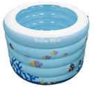 小白熊海精灵充气式安全游泳池(圆形)
