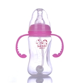 160ML三角带柄自动吸PP奶瓶