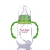 标口径120ML葫芦带柄自动吸PP奶瓶