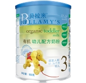 贝拉米3段有机幼儿配方奶粉