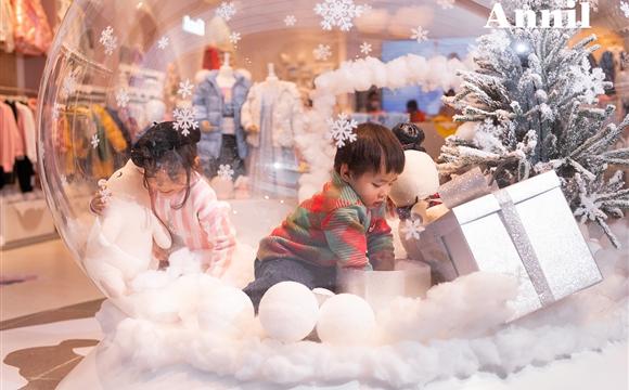 南方10月下雪?安奈儿婴童服装打造冬日专属狂欢