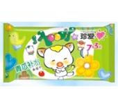 华联 真爱青瓜补水柔湿巾7+3片卡通装