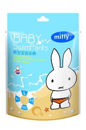 SOLOVE 米菲婴儿游泳纸尿裤男宝宝款L