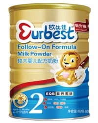 欧比佳较大婴儿配方奶粉