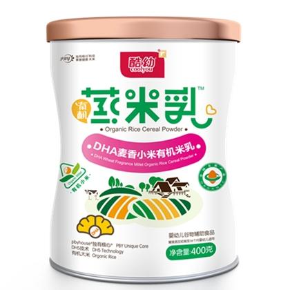 酷幼有机蒸米乳 DHA麦香小米有机米乳
