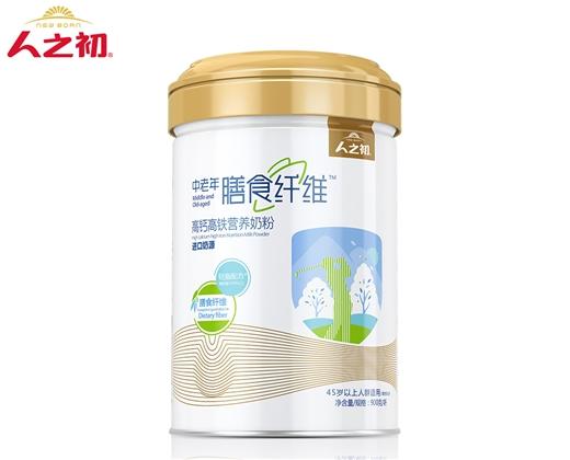 人之初中老年膳食纤维高钙高铁营养奶粉900g