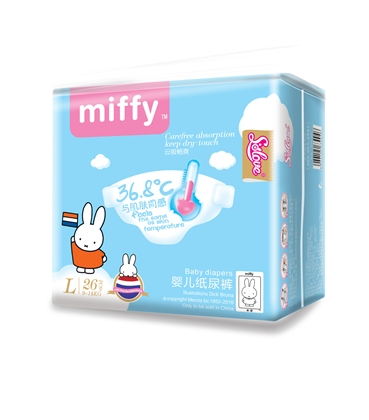 miffy米菲云吸畅爽婴儿纸尿裤L